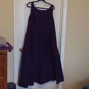 Sleeveless purple maxi with pockets